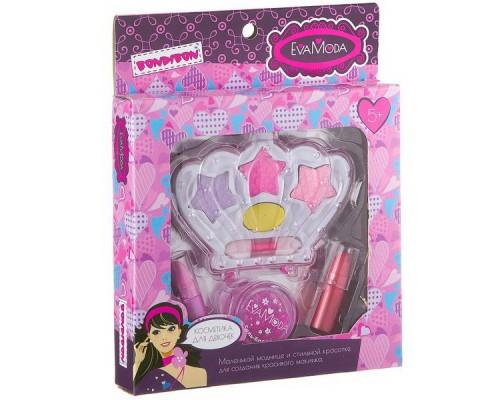 Набор детской декоративной косметики Bondibon Eva Moda Корона с тенями для век 20237B2.