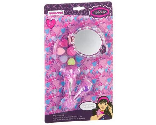 Набор детской декоративной косметики Bondibon Eva Moda Косметичка-зеркальце с ручкой