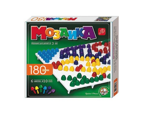 Мозаика d15/6 цветов/180 элементов/2 поля 00967