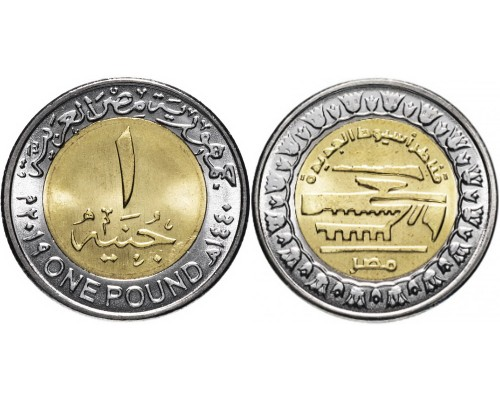 БЕЗ СКИДКИ Монета 1 фунт Египет 2019