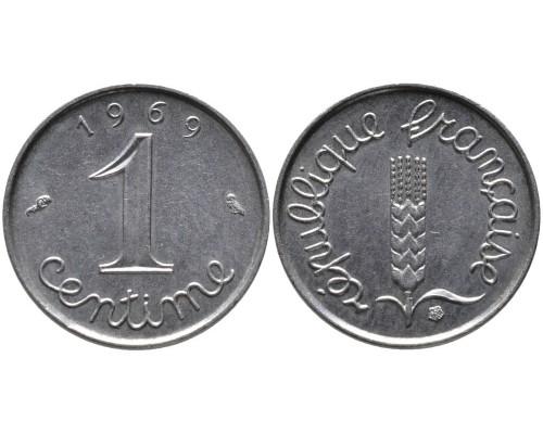 БЕЗ СКИДКИ Монета 1 сантим Франция 1960-1979