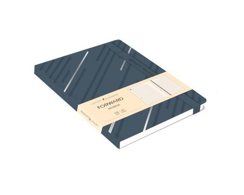 Ежедневник (недатированный) А5 104 листа искусственная кожа FORWARD Стальной