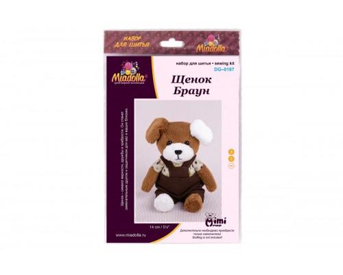 """Набор для изготовления игрушек """"Miadolla"""" Щенок Браун"""