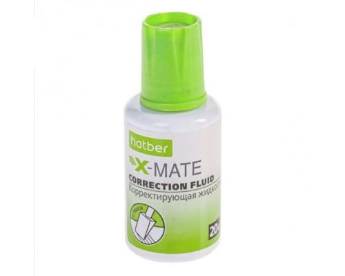 Корректирующая жидкость Hatber X-Mate на химической основе 20ml с губчатым аппликатором