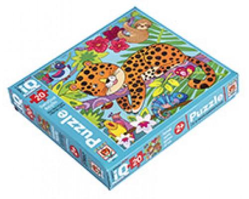 IQ Пазл МАКСИ 20 эл. Пятнистый леопард 27657
