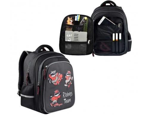 Рюкзак 54121 ЕНОТЫ НА СКЕЙТАХ 29х38.5х13.5 см для мальчика начальная школа